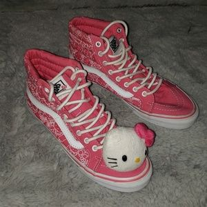Pink Hello Kitty high top Vans